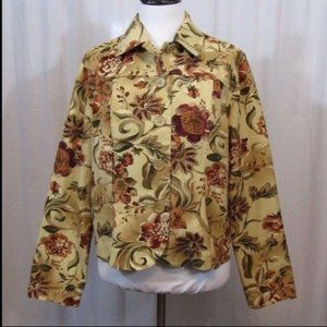 Coldwater Creek Floral Light Weight Jacket S